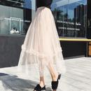 スウィートフリルラインデザインスカート