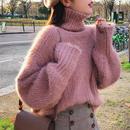 タートルネックふんわりセーター