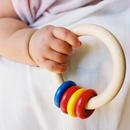 〈3ヶ月-〉【ベビー/ラトル】【ベビー/音の玩具】リングリィリング