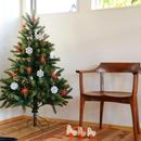 【クリスマス】オーナメント赤い星 (大)4個セット