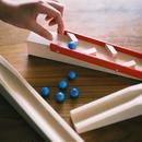 【4才〜】【積木のビー玉転がし・構成玩具】スロープセット