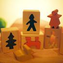 〈10ヶ月-〉【はめ込み玩具/出す、入れる、はめる】はめ絵(小)6P