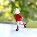 〈3才-〉【ドールハウス/人形】自在人形 サッカー少年
