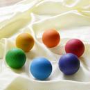 〈8ヶ月-7才〉【木製ボール】6色の木製ボール