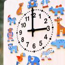 【壁掛け時計】時計 動物たち
