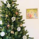 【クリスマス】オーナメントブロンズの星 (小)6個セット