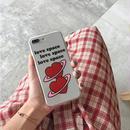 【M512】♡ iPhone 6 / 6s /6Plus / 6sPlus / 7 / 7Plus / 8 / 8Plus / X ♡ シェルカバー クリア ケース Double Heart