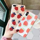 【M554】★ iPhone 6 / 6s / 6Plus / 6sPlus / 7 / 7Plus / 8 / 8Plus / X ★ シェルカバー ケース クリアイチゴ 可愛い