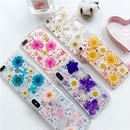【M321】★ iPhone6 / 6Plus / 6s / 6sPlus / 7 / 7Plus/ 8 / 8Plus / X  ★Flower Case iPhoneケース  綺麗な花 金箔