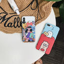 【M519】♡ iPhone 6 / 6s /6Plus / 6sPlus / 7 / 7Plus / 8 / 8Plus / X ♡ シェルカバー ケース 韓国の漫画 可愛い