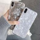 【M381】★ iPhone 6 / 6s /6Plus / 6sPlus / 7 / 7Plus / 8 / 8Plus / X ★ シェルカバー ケース 貝殻 グレー ホワイト