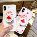 【M575】★ iPhone 6 / 6s / 6Plus / 6sPlus / 7 / 7Plus / 8 / 8Plus / X ★ シェルカバーケース Hello Summer スイカ