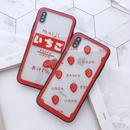 【M755】★ iPhone 6 / 6s / 6Plus / 6sPlus / 7 / 7Plus / 8 / 8Plus / X ★ シェルカバーケース イチゴ クリア