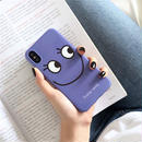 【M740】★ iPhone 6 / 6s / 6Plus / 6sPlus / 7 / 7Plus / 8 / 8Plus / X ★ シェルカバー ケース Purple LOOK at me