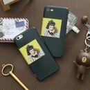 【M928】★ iPhone 6 / 6s / 6Plus / 6sPlus / 7 / 7Plus / 8 / 8Plus / X ★ シェルカバー ケース Girl On the Phone