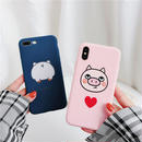 【M154】★ iPhone 6 / 6sPlus / 7 / 7Plus / 8 / 8Plus / X/XS / Xr /Xsmax ★ シェルカバー ケース Lovely Piggy