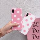 【M703】★ iPhone 6 / 6s / 6Plus / 6sPlus / 7 / 7Plus / 8 / 8Plus / X ★ シェルカバーケース ピンクドット