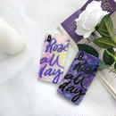 【M518】♡ iPhone 6 / 6s /6Plus / 6sPlus / 7 / 7Plus / 8 / 8Plus / X ♡ シェルカバー ケースPurple Letters 可愛い