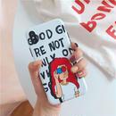 【M610】★ iPhone 6 / 6s / 6Plus / 6sPlus / 7 / 7Plus / 8 / 8Plus / X ★ シェルカバーケース  Red Hair Girl 可愛い