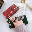【M216】★ iPhone 6  / 6sPlus / 7 / 7Plus / 8 / 8Plus / X /XS/Xs max★ シェルカバーケース  Flower ベルト付き