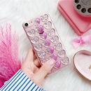 [MD329] ★ iPhone 6 /6s/6Plus/6sPlus /7/7Plus/8/8Plus / X ★ iPhone シェルカバー ケース ハート ロゴ パープル 可愛い
