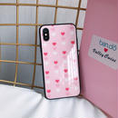 【M525】♡ iPhone 6 / 6s /6Plus / 6sPlus / 7 / 7Plus / 8 / 8Plus / X ♡ シェルカバー ケース ハート可愛い many hearts