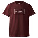 "MONARK ""Simple Box Logo"" tee (Burgundy/White)"