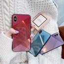 Laser Diamond Shape Black Frame iPhone case