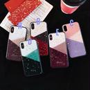 Color Block Glitter iPhone case