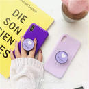 Purple heart with Stand iPhone case