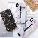 White Black Marble with Band&Stand iPhone case