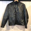 70's  レザージャケット 黒