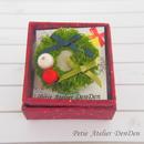【DenDen】ブローチ◆クリスマスリース/グリーン【C05-034】