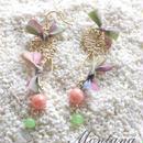 Coral×Thirdnix pierced earrings