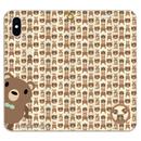 19-04TNAo*サンビキノクマの帯なし手帳型スマホケースA