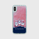 ローズピンク【スマホケース】あるぱかイズム_iPhoneグリッターケース