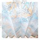 "【ORDER CURTAINS】オーダーカーテン(遮光裏地付):""花火""オレンジ 巾 50cm~ 95cm ・ 丈 50cm~120cm(1枚)"
