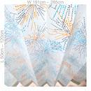 "【ORDER CURTAINS】オーダーカーテン(遮光裏地付):""花火""オレンジ 巾 191cm~285cm ・ 丈 50cm~120cm(2枚セット)"