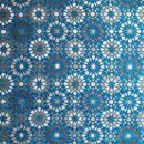 モロッコインテリア生地「モザイクタイル・ブルー」