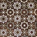 モロッコインテリア生地「モザイクタイル・マロン」  145×112