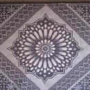 モロッコインテリア生地・リバーシブル「モザイクグレー」148×70cm