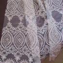 アラベスク・刺繍カーテン生地「オリエンタルウェディング」  2m80cm一点限り