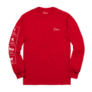DIME KNOWING L/S T-SHIRTS RED