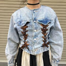 chemical  denim lace up jacket