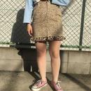 Leopard frill skirt