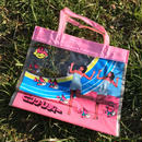 Pink lady clear bag