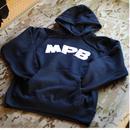 MPB Logo Hooded Pullover 12oz (カンガルーポケット付き) ネイビー (illustrated by JUN OSON)