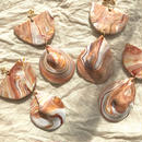 149 brown shell earrings