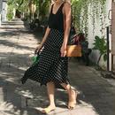 flare dot skirt