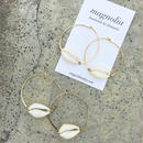128 summer white shell hoops